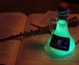 glowing potion bottles image