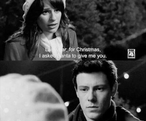 glee, christmas, and love image