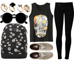 backpack, jewelry, and outfit image