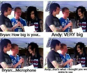 andy biersack, black veil brides, and funny image