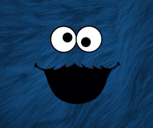 blue, wallpaper, and cookie monster image