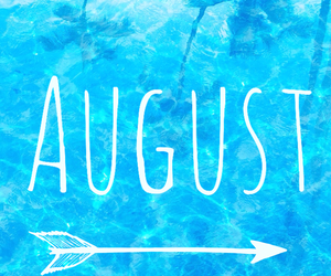 August, couple, and pool image