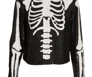 skeleton, bones, and sweater image