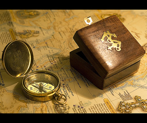 compass, map, and pirates image