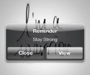 stay strong, strong, and warrior image