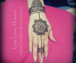 henna, indian, and mehendi image