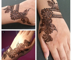 indian, henna, and mehendi image