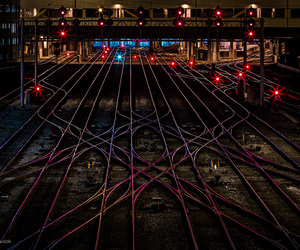 amtrak, busy, and city image