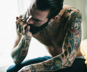 tattoo, man, and sexy image