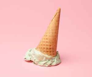 pink, ice cream, and pastel image