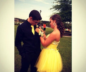 couples, Prom, and prom dresses image