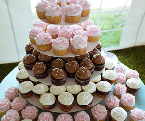 cake, colours, and cupcakes image