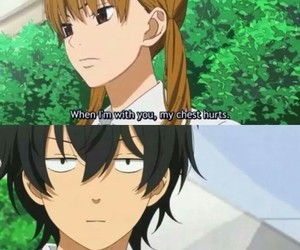 anime, tonari no kaibutsu-kun, and funny image