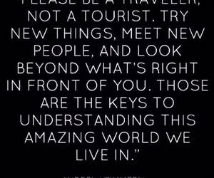 quote, travel, and traveler image