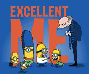 minions, simpsons, and despicable me image