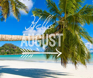 August, happy, and hello image