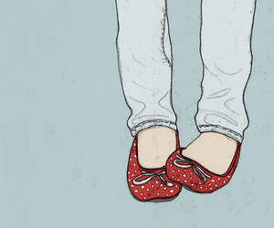 shoes, drawing, and red image
