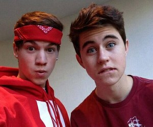 nash grier, taylor caniff, and magcon image