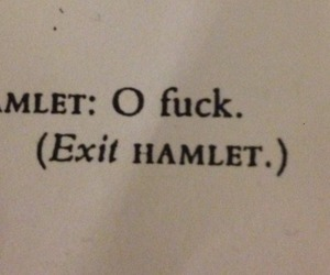 fuck, Hamlet, and play image
