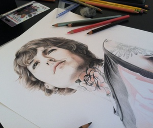 bmth, drawing, and oliver sykes image