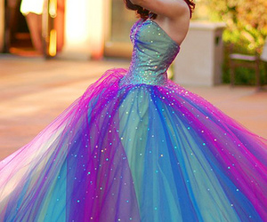 dress, blue, and purple image