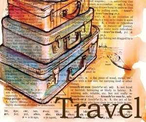 travel, book, and dictionary image