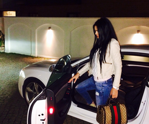 girl, gucci, and car image