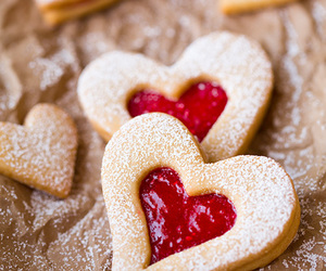 love, Cookies, and hearts image