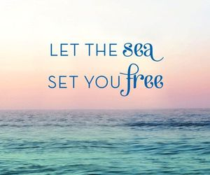 sea, quotes, and free image