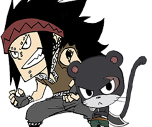 lily, fairy tail, and gajeel redfox image
