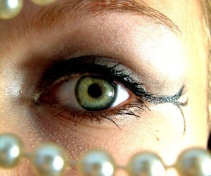 beautiful, girl, and pearls image