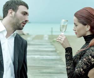 beach, couple, and dafina zeqiri image