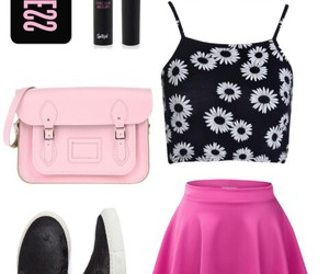 fashon, flowers, and outfit image