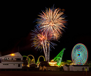 colors, fireworks, and photography image
