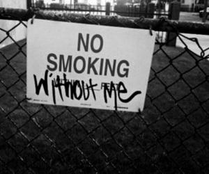 smoking, smoke, and black and white image