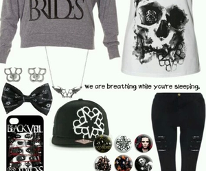 black veil brides, band, and outfit image