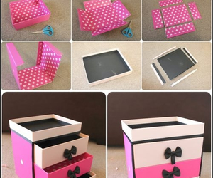 diy, pink, and box image