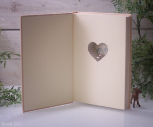 books, heart, and love image