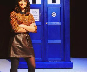doctor who, clara oswin oswald, and tardis image