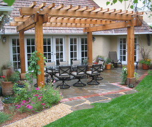 outdoor, outdoor space, and traditional design image
