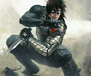 winter soldier, bucky barnes, and Marvel image