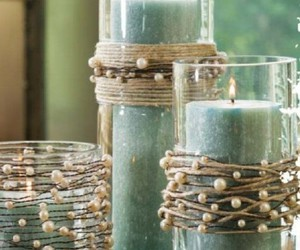candle, decor, and pearls image