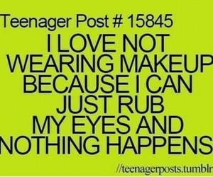 teenager post, makeup, and eyes image