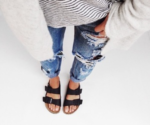 accesories, blue jeans, and style image