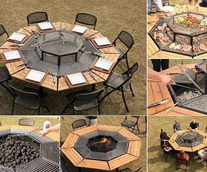 bbq, diy, and table image