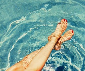 nails, toes, and pool image