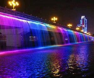 water, light, and rainbow image
