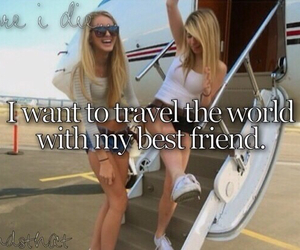 travel, world, and best friends image