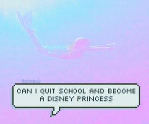princess, disney, and mermaid image