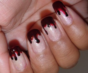 blood, murderer, and fashion nails image